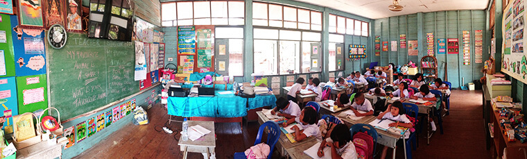 our cute little class room in our local school in thailand