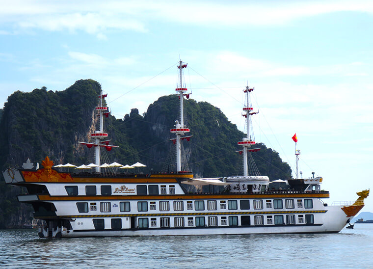 our beautiful junk we spent 3 wonderful days on touring Halong bay world heritage