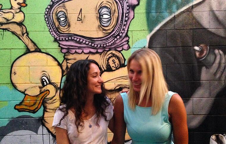 Brisbane arty restaurant in west end with my Australian friend