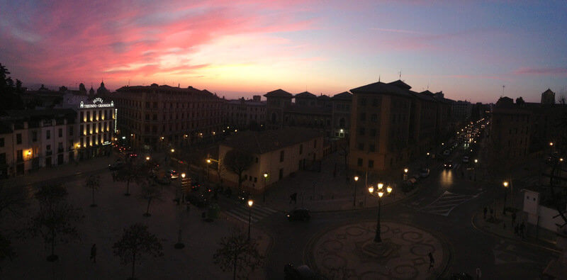 ending the day with watching the sunset from my friends balcony in granada