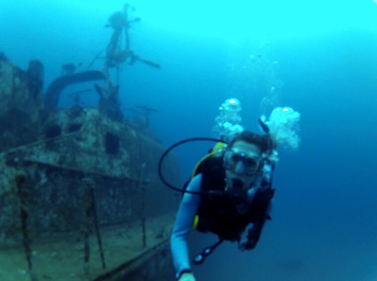 nitrox wreck scuba diving in Malaysia