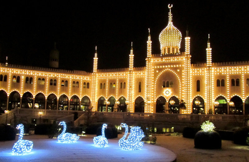 the infamous Tivoli in Copenhagen with the annual themed christmas market