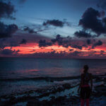 sunset hours on bonaire after doing some yoga
