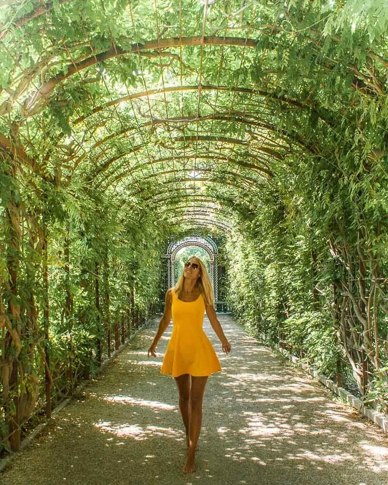 The gardens around Schoenbrunn Palace in Vienna in Austria.