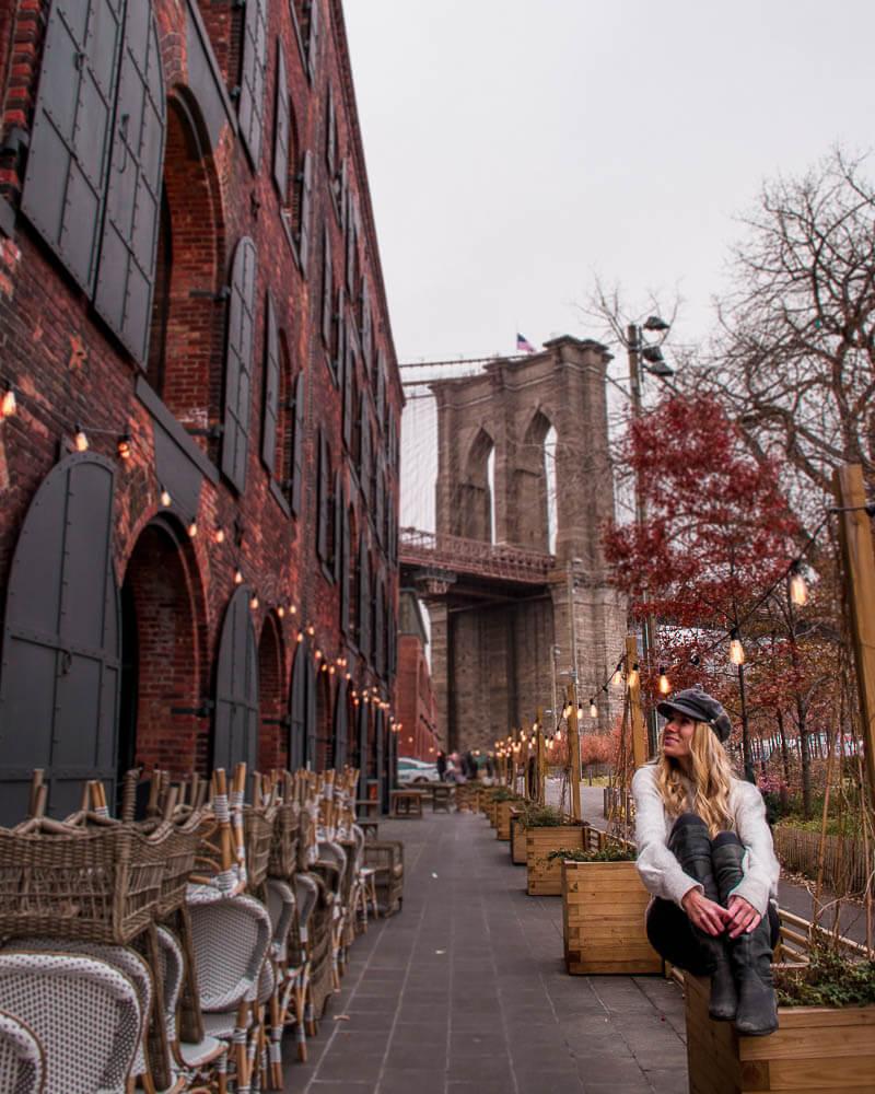 enjoying the Christmas vibes in brooklyn during New York Christmas holiday season