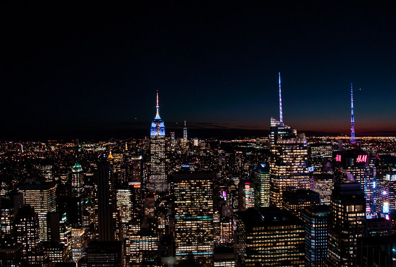 the magnificent skyline of New York city featuring the famous Empire State building