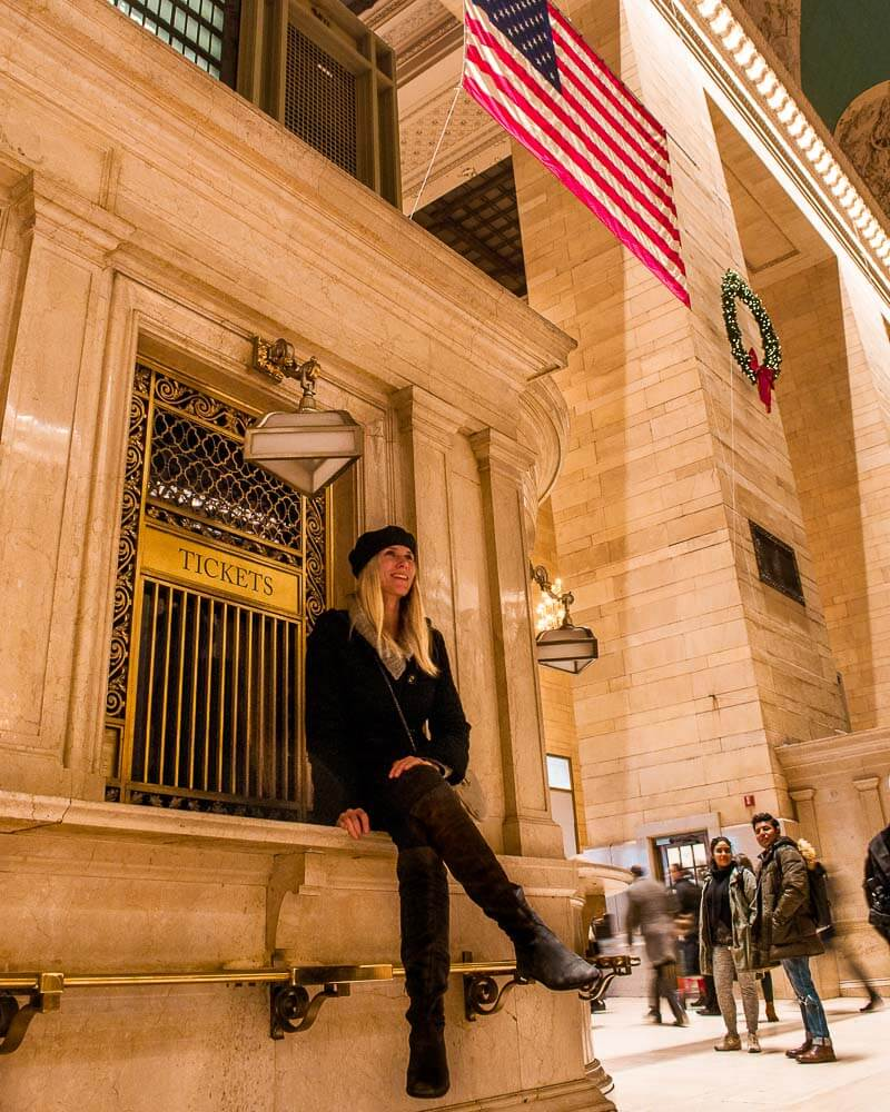 sitting inside grand central station in new york