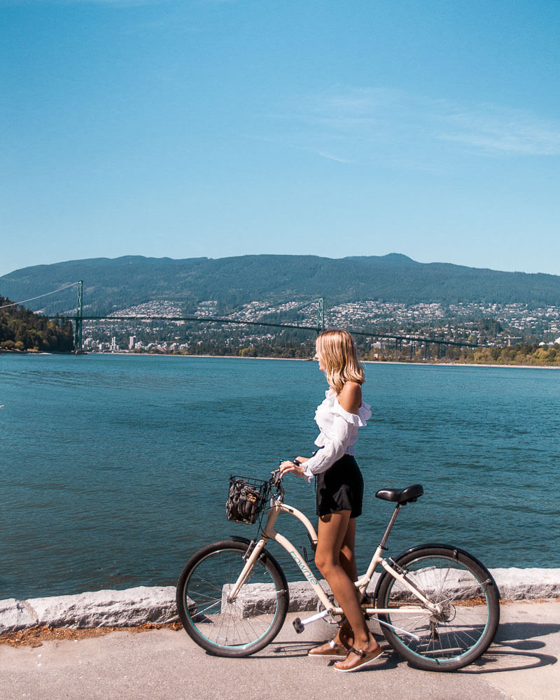 getting around the bike especially around Stanley park is a beautiful way to discover Vancouver