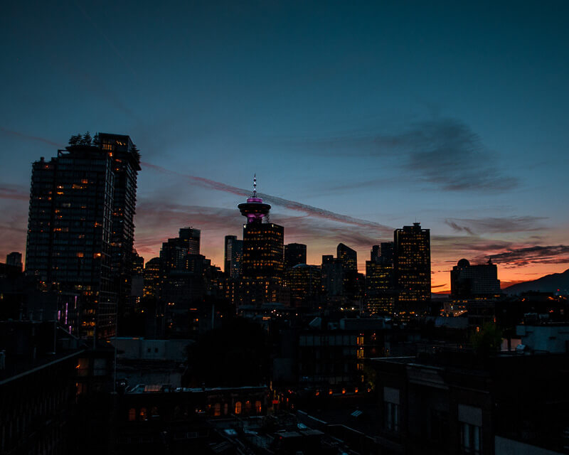 nothing beats the skyline of Vancouver