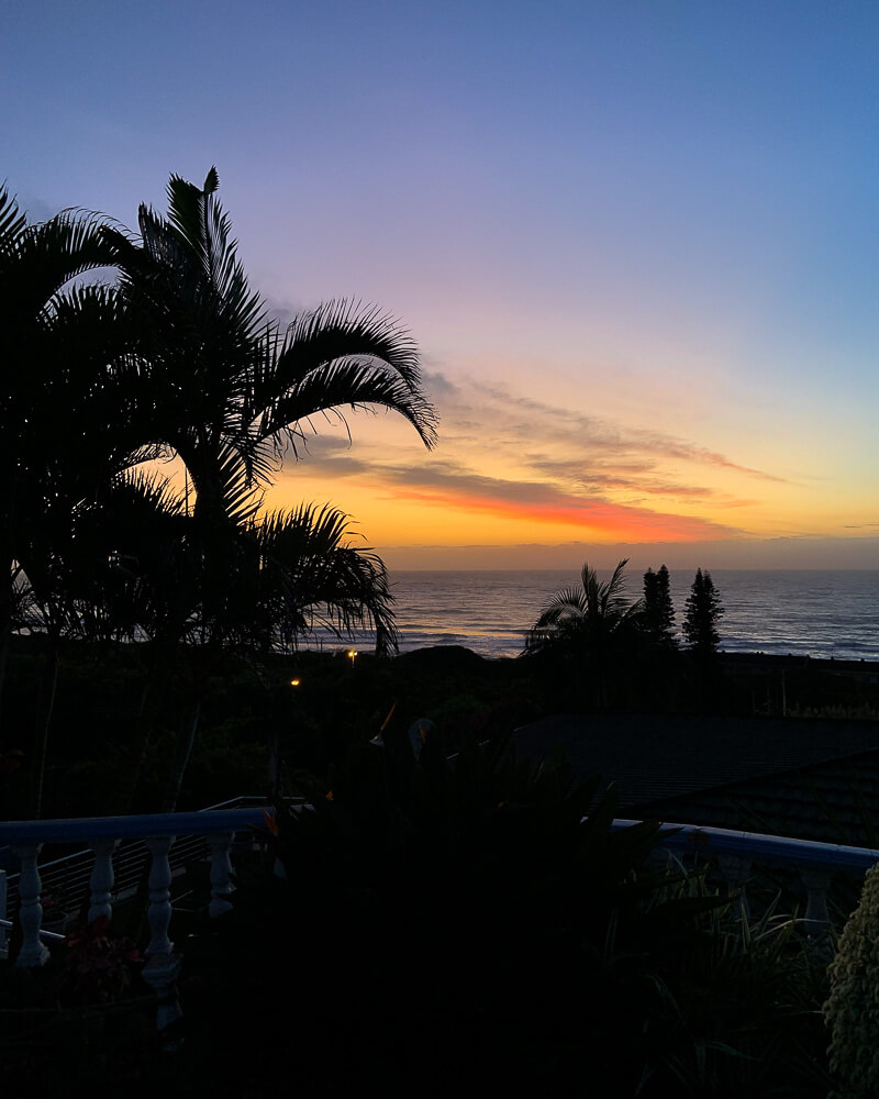 most beautiful airbnb experiences at durban with a stunning sunrise